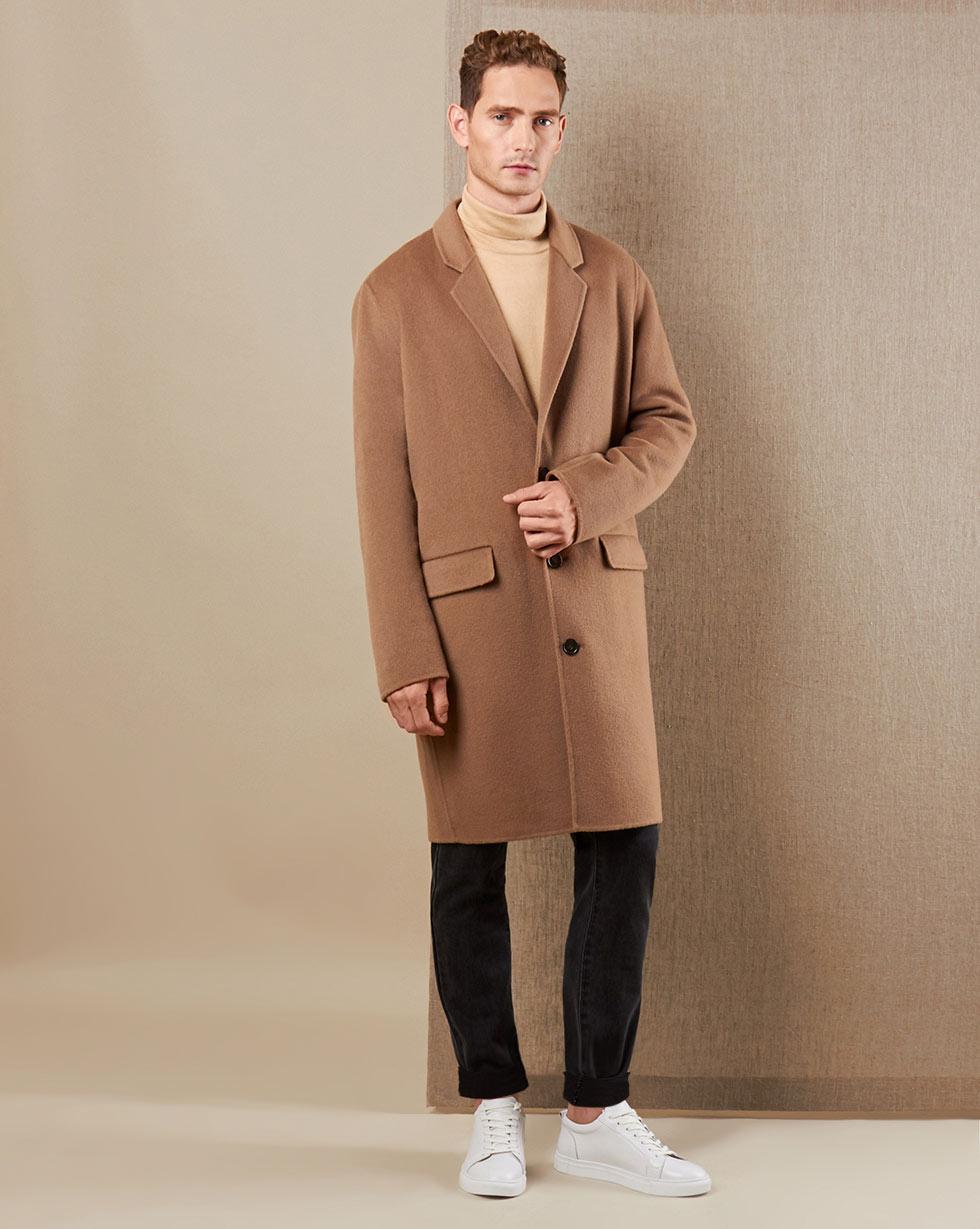 купить 12Storeez Пальто V15-014 (Коричневый) дешево
