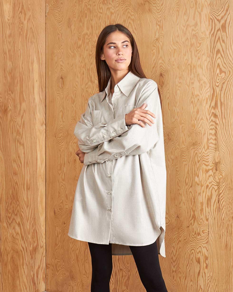 12Storeez Рубашка BL65-027 (Серо-бежевый) 12storeez рубашка bl65 021 серый1