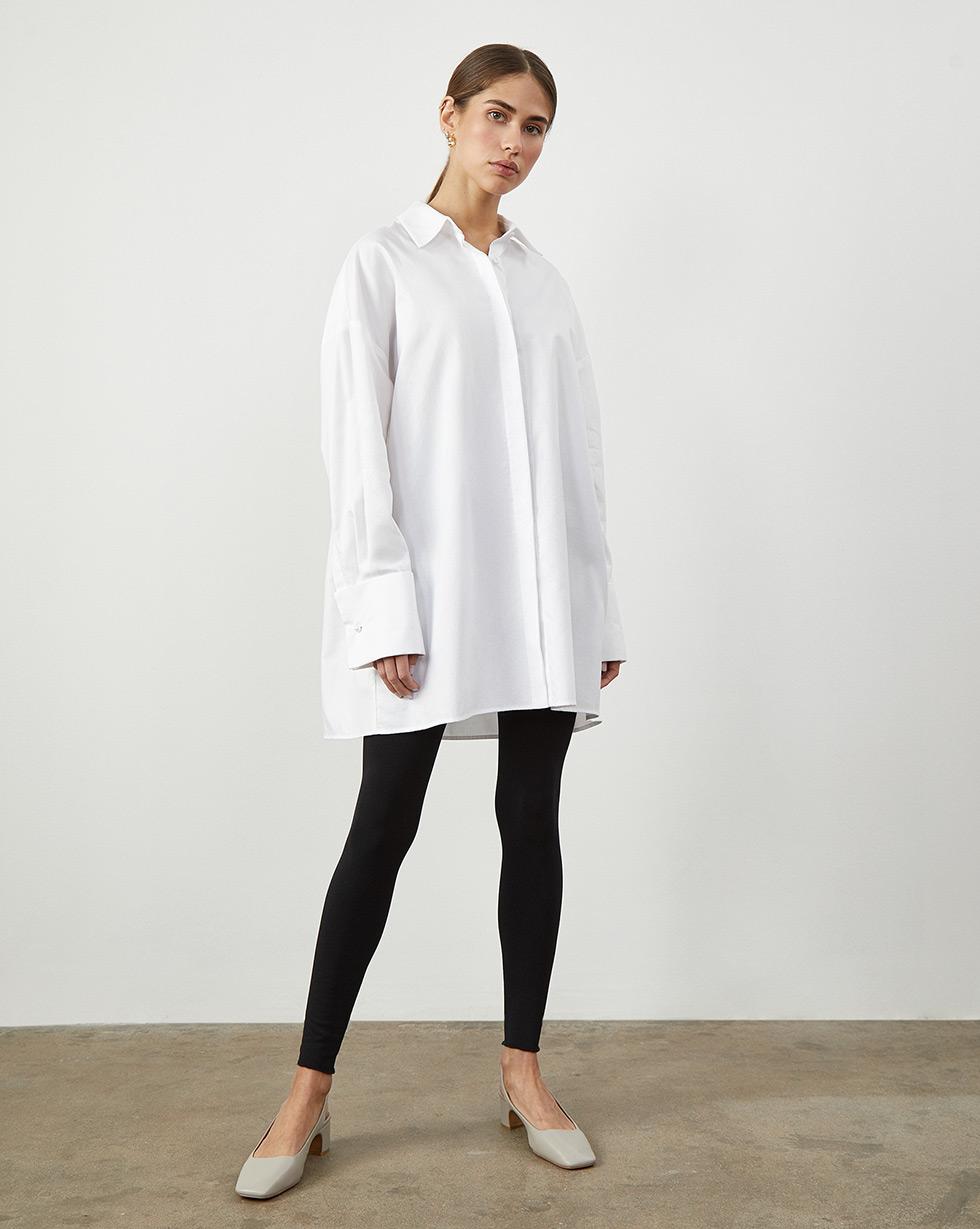 цена 12Storeez Рубашка объемная с широкими манжетами (белый) онлайн в 2017 году