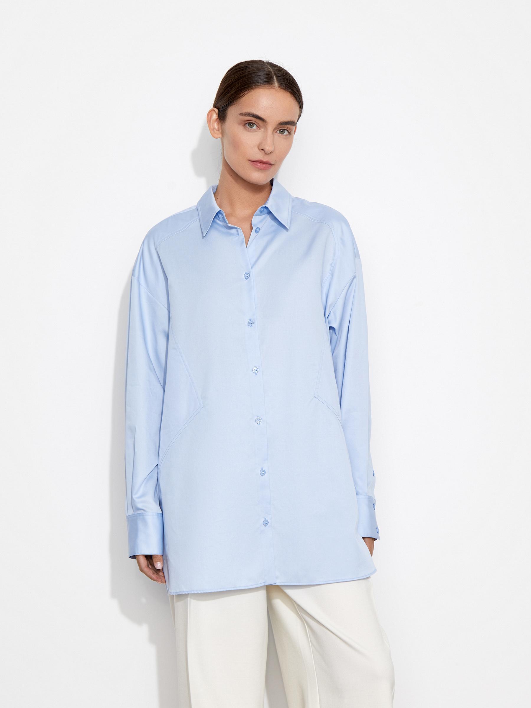 12⠀STOREEZ Рубашка с треугольными вставками