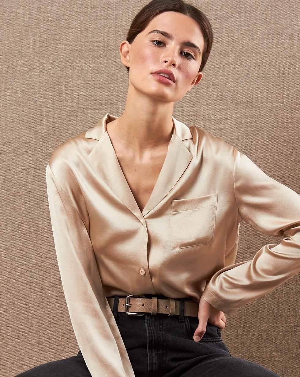 цена 12Storeez Шелковая блуза онлайн в 2017 году