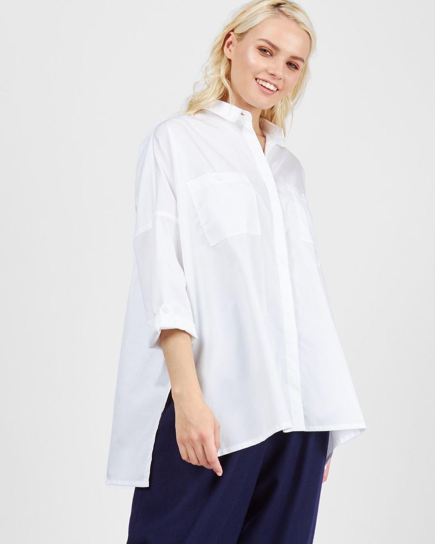12Storeez Рубашка с карманами (ромб белый)