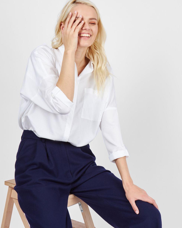 Рубашка с карманами One sizeРубашки<br><br><br>Артикул: 230010560<br>Размер: One size<br>Цвет: Белый ромб<br>Новинка: НЕТ<br>Наименование en: Boyfriend fit shirt