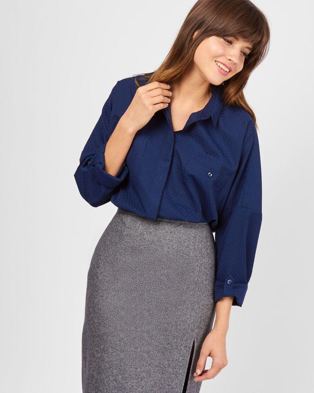 12Storeez Рубашка с карманами (темно-синий) 12storeez рубашка с карманами в мелкую клетку белый