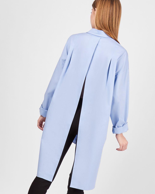 Рубашка с открытой спиной One sizeРубашки<br><br><br>Артикул: 230011212<br>Размер: One size<br>Цвет: Голубой<br>Новинка: НЕТ<br>Наименование en: Split back shirt