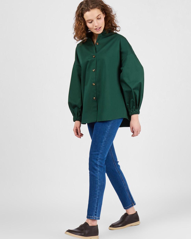 Рубашка из плотного хлопка One size