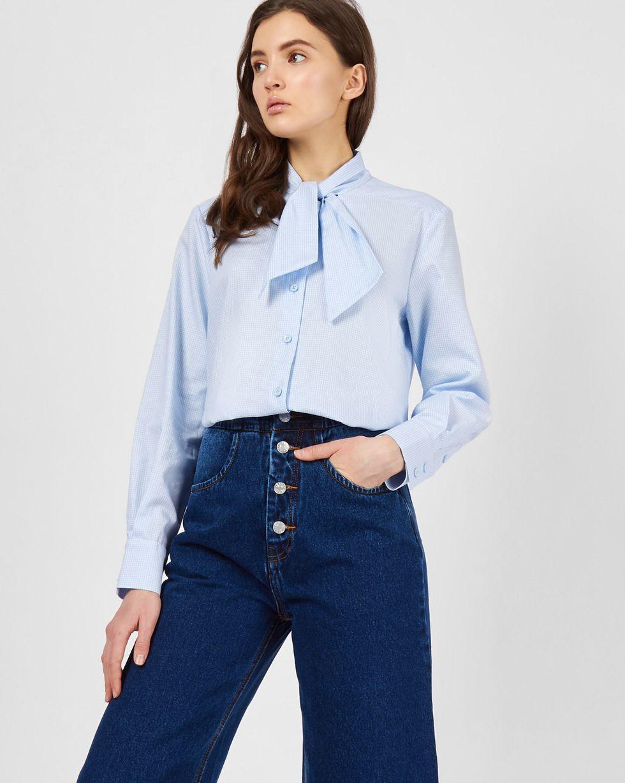 Рубашка с укороченным бантом MРубашки<br><br><br>Артикул: 230013620<br>Размер: M<br>Цвет: Голубой<br>Новинка: НЕТ<br>Наименование en: None