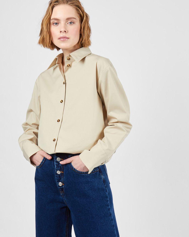 12Storeez Рубашка прямого кроя (молочный) рубашка прямая большого размера