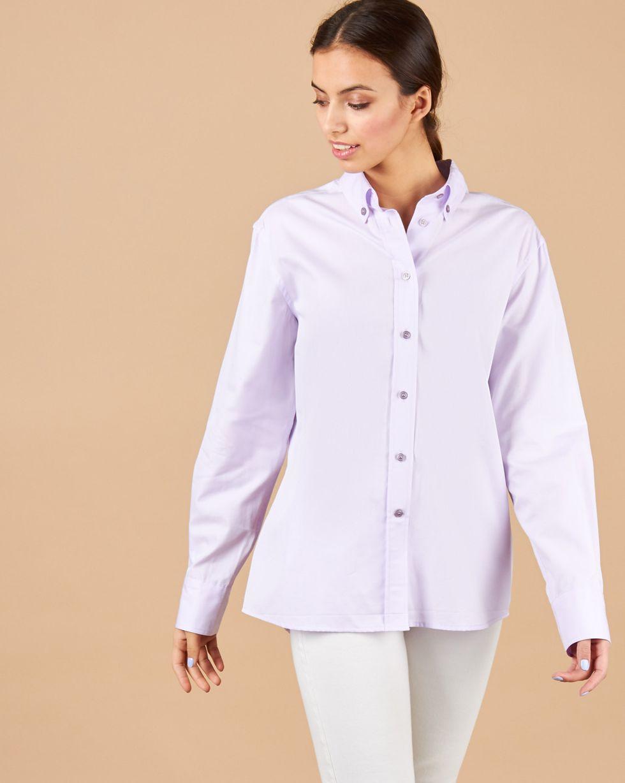 12Storeez Рубашка мужского покроя (сиреневый) 12storeez рубашка мужского покроя в полоску розовый
