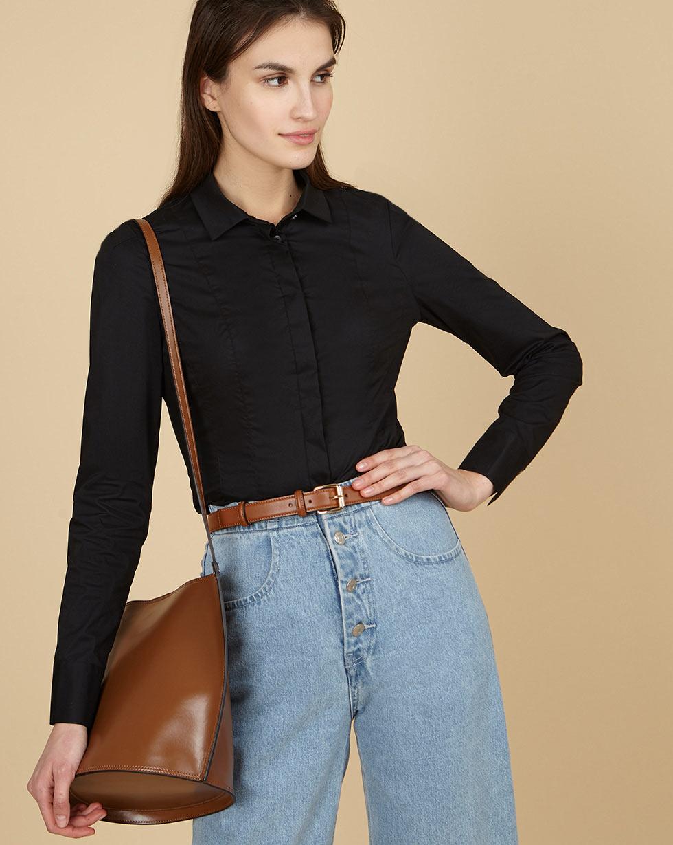 12Storeez Рубашка приталенная (черный)