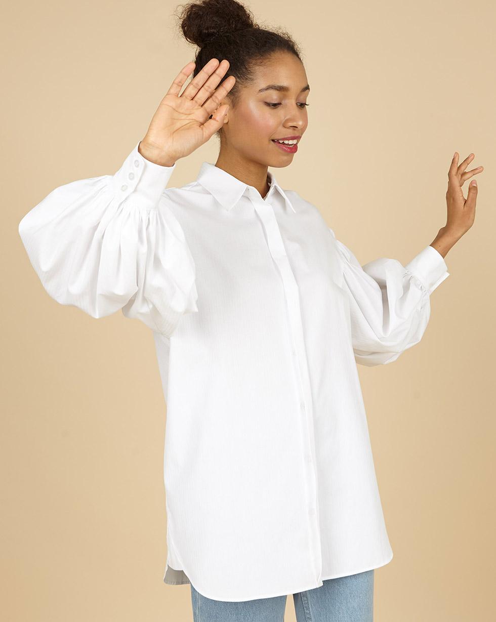 12Storeez Рубашка с объёмными рукавами (белый)