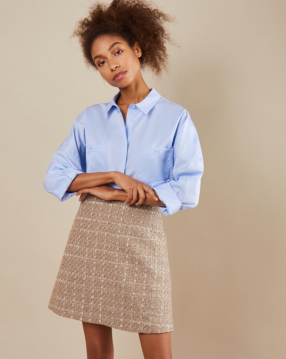 12Storeez Рубашка с карманамиBL6565-003 (голубой)