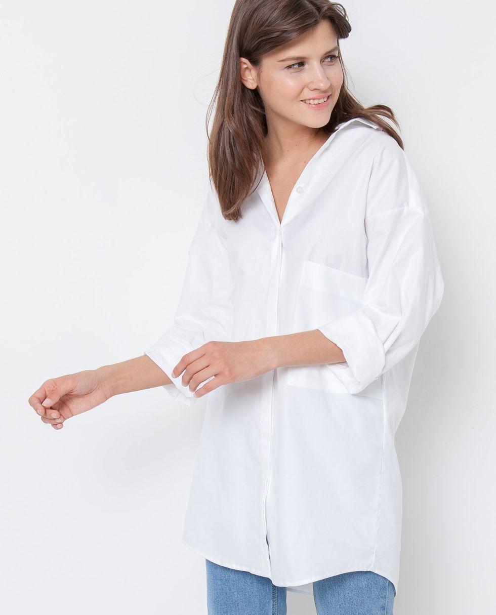 12Storeez Рубашка удлиненная (белая)