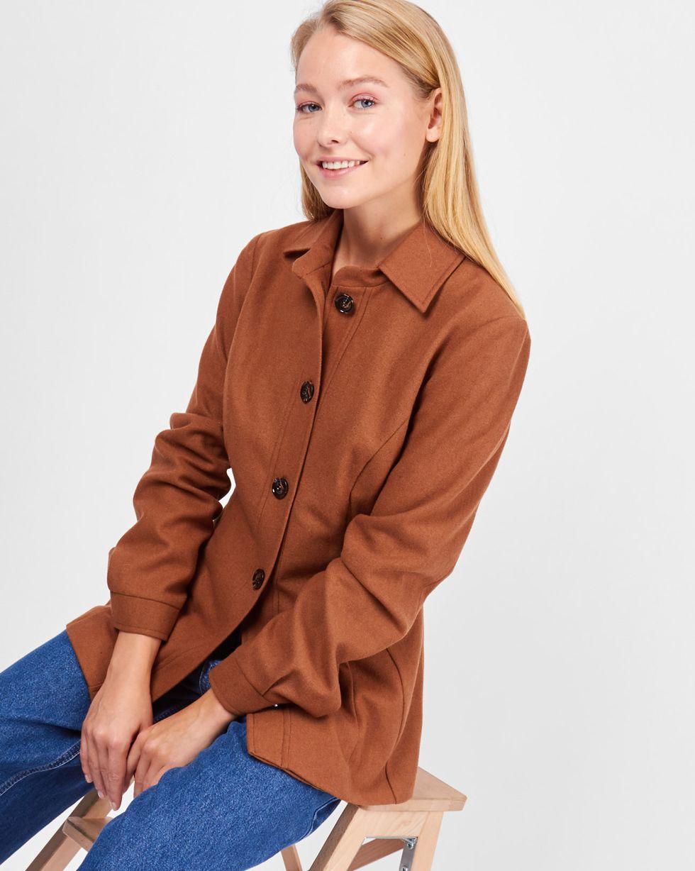 12Storeez Рубашка из плотной шерсти (коричневая)