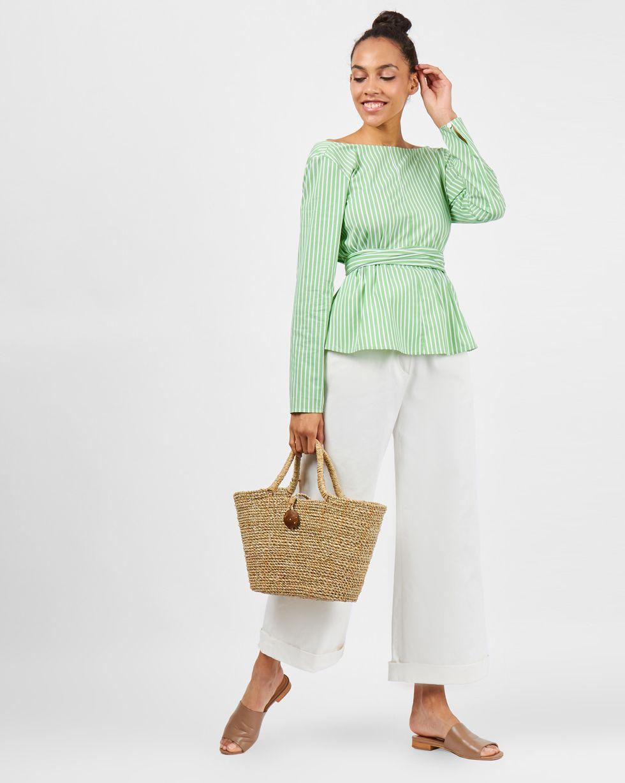 12Storeez Рубашка в полоску с бантом (зеленый) цена и фото
