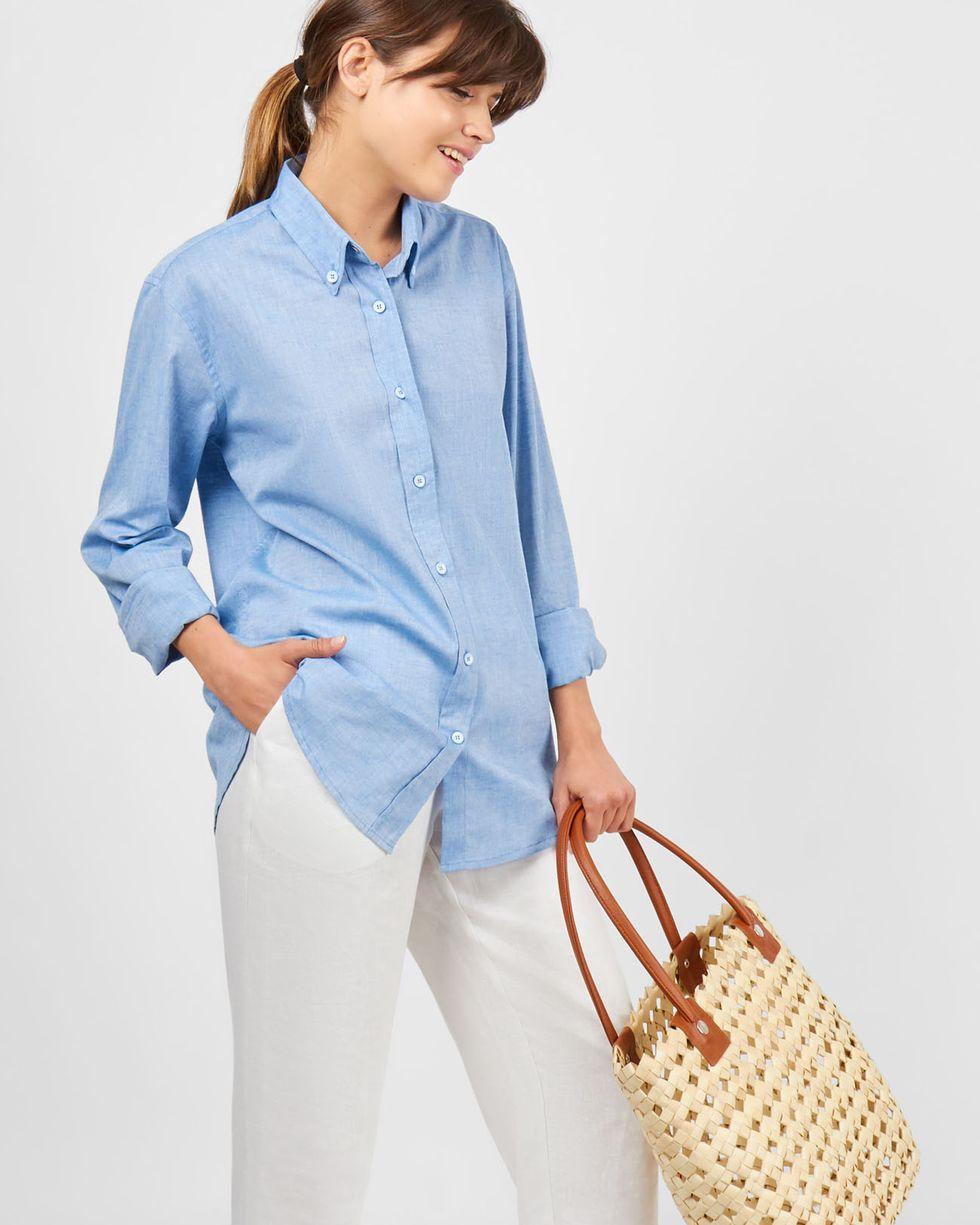 Рубашка мужского покроя SРубашки<br><br><br>Артикул: 23009910<br>Размер: S<br>Цвет: Голубой<br>Новинка: НЕТ<br>Наименование en: Boyfriend fit shirt