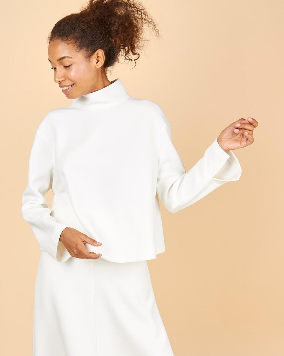 12Storeez Блуза со стойкой (белый) блуза apart блуза