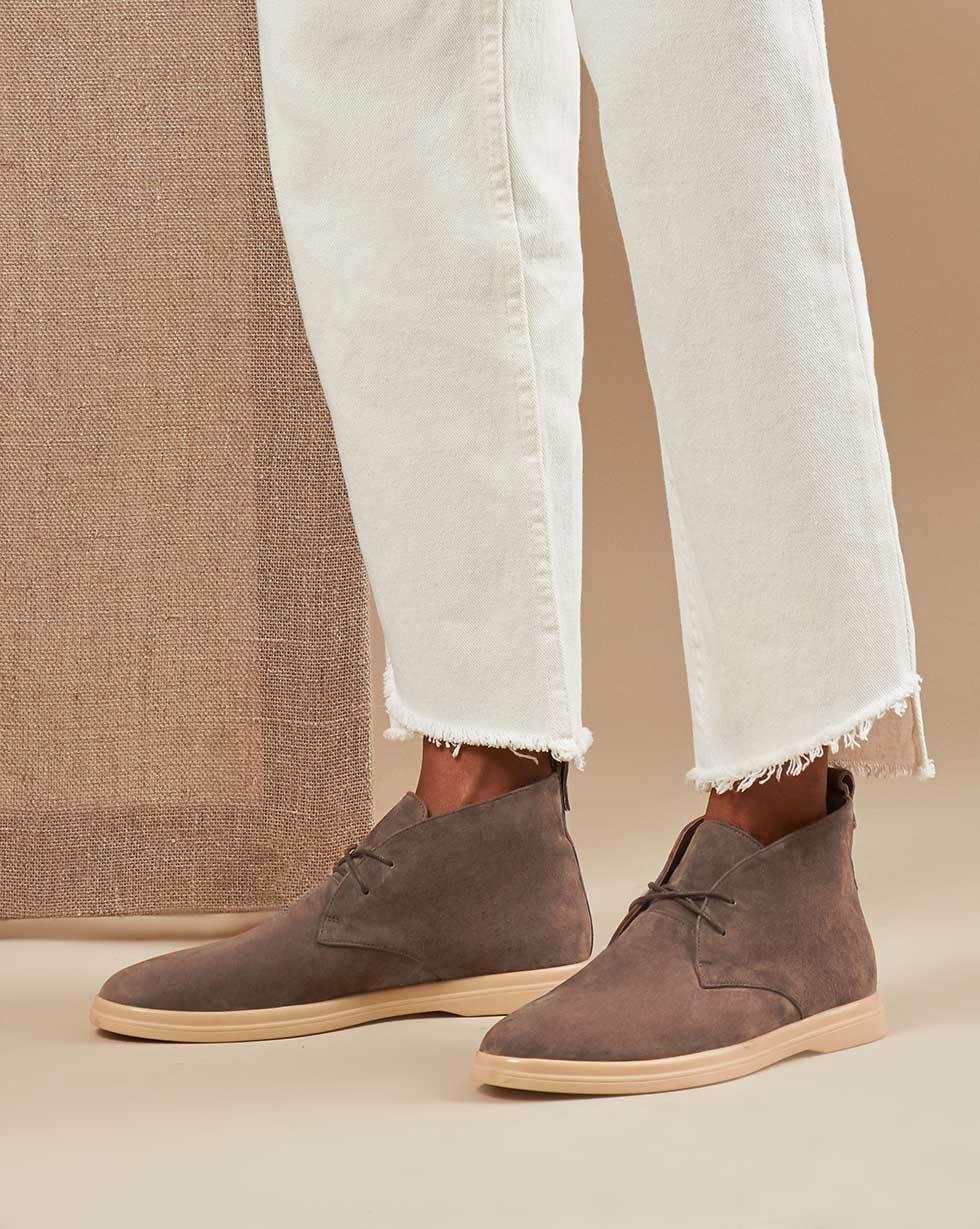 12Storeez Ботинки 000000010 (Серо-коричневый)
