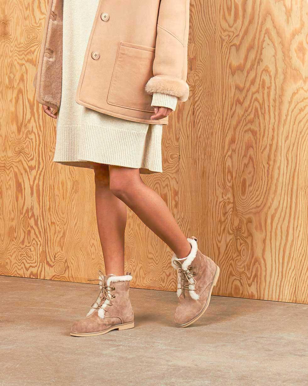 12Storeez Ботинки зимние Z3838-009 (Светло-коричневый) 12storeez ботинки зимние z3838 006 серо бежевый