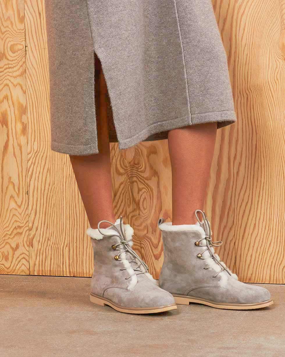 12Storeez Ботинки зимние Z3838-009 (Светло-серый) 12storeez ботинки зимние z3838 006 серо бежевый
