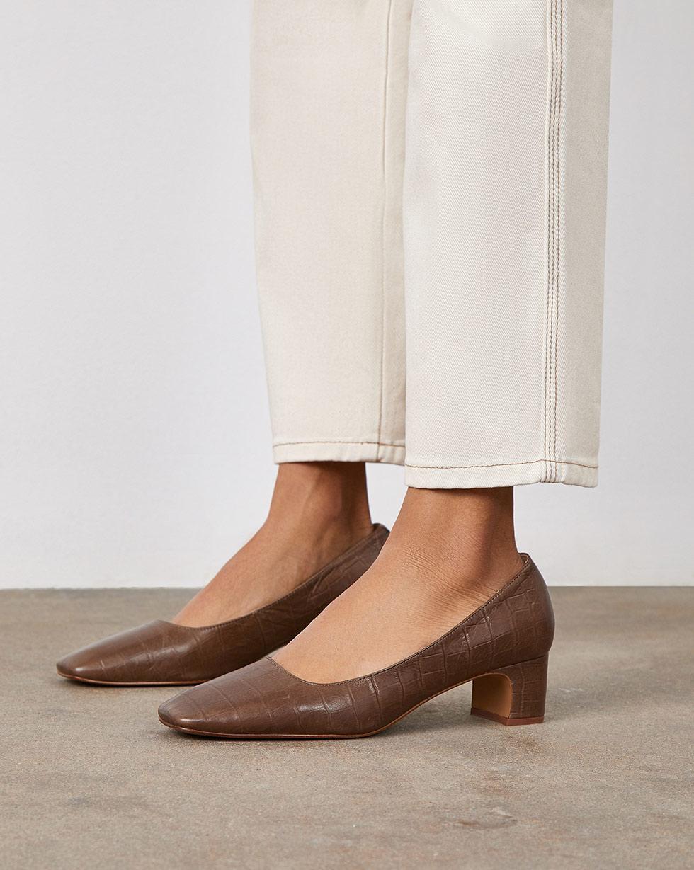 цена 12Storeez Закрытые туфли на устойчивом каблуке онлайн в 2017 году