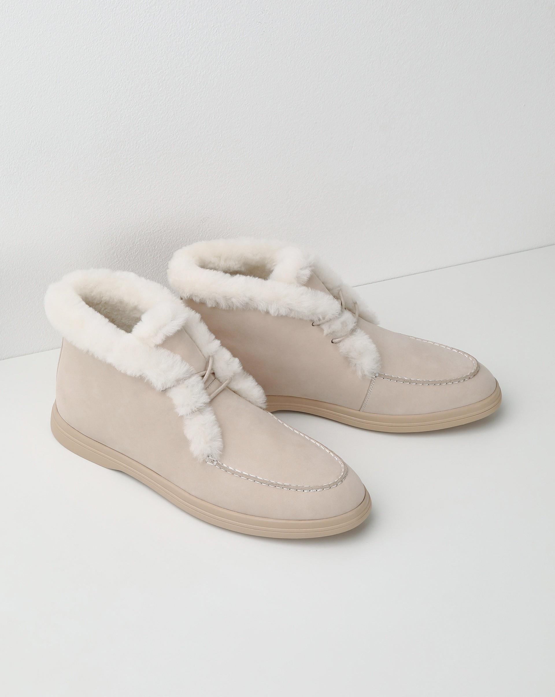 12⠀STOREEZ Ботинки с мехом на шнурках 12⠀storeez ботинки высокие с мехом