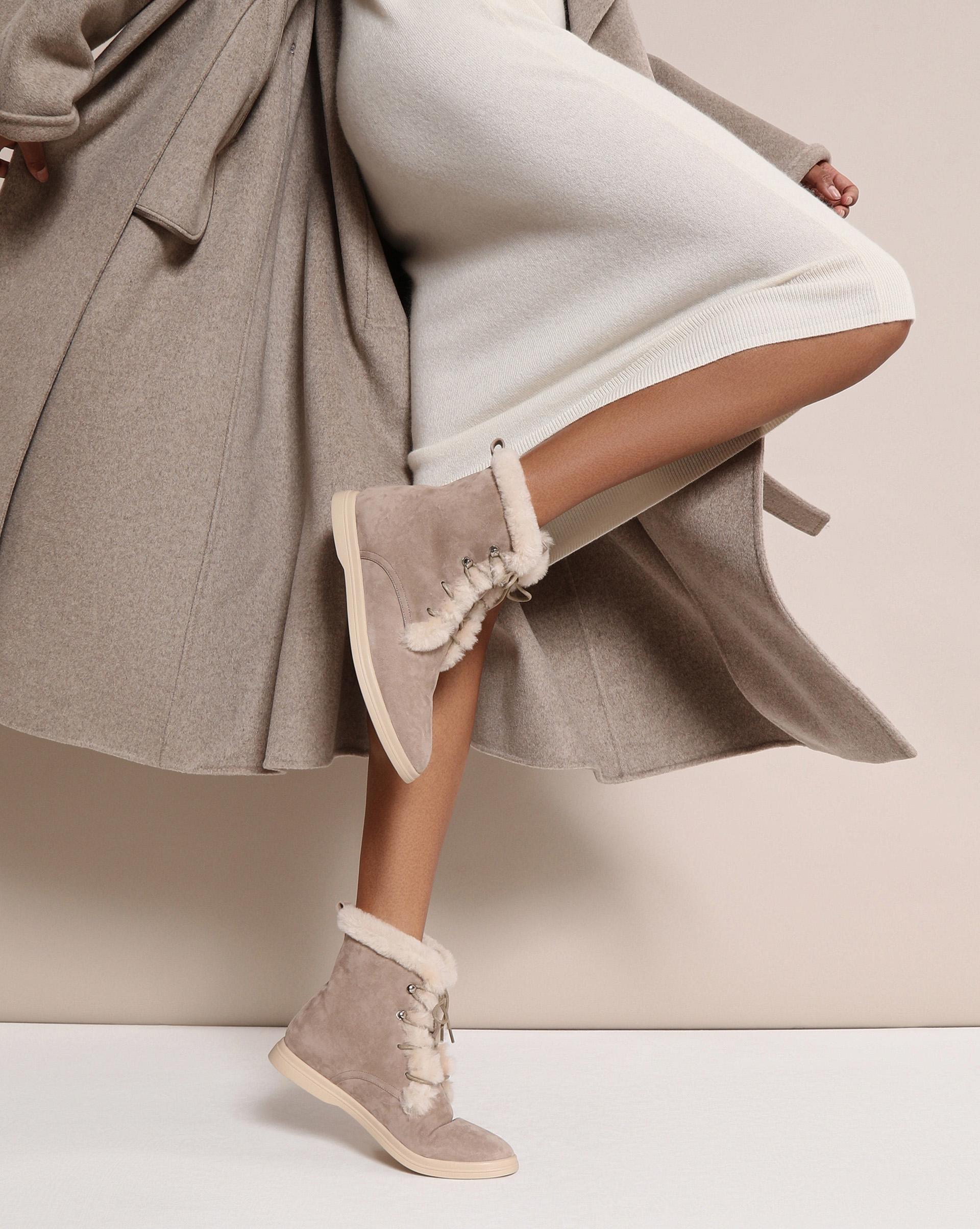 12STOREEZ Высокие ботинки с мехом