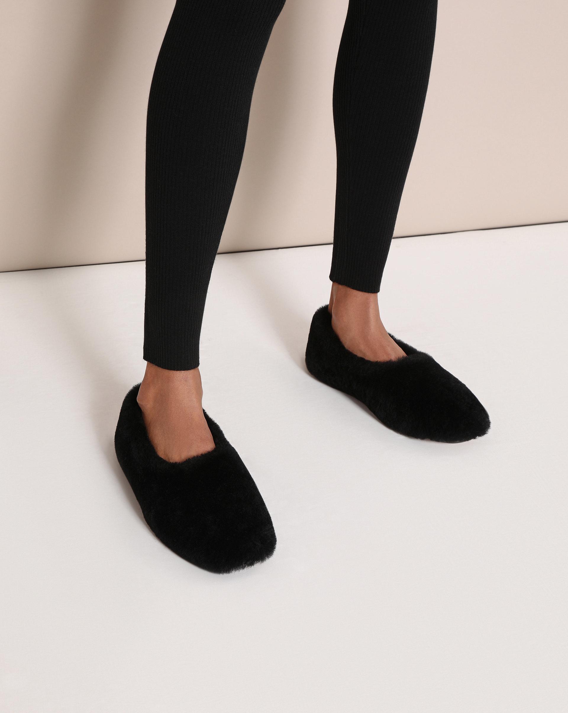 12STOREEZ Тапочки-лоферы из меха 12storeez туфли лоферы из меха