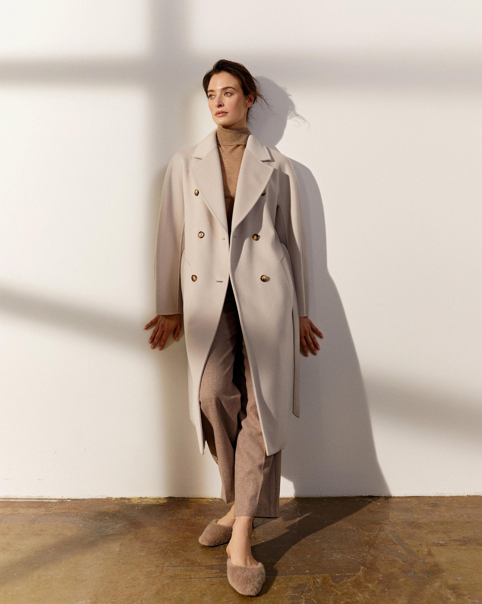 12⠀STOREEZ Пальто двубортное с поясом 105579 фото