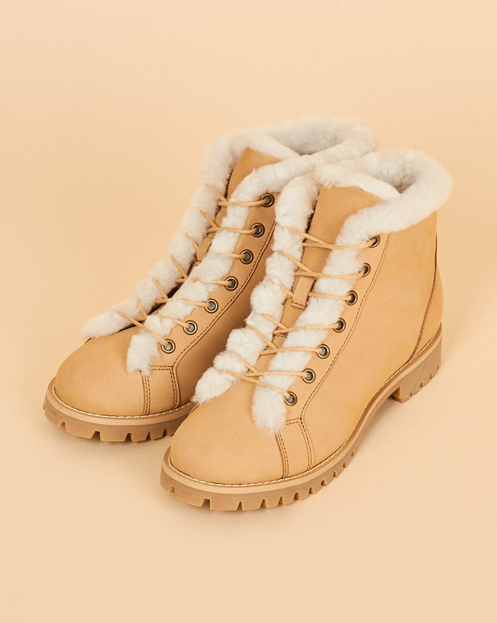 12Storeez Ботинки с мехом (песочные)