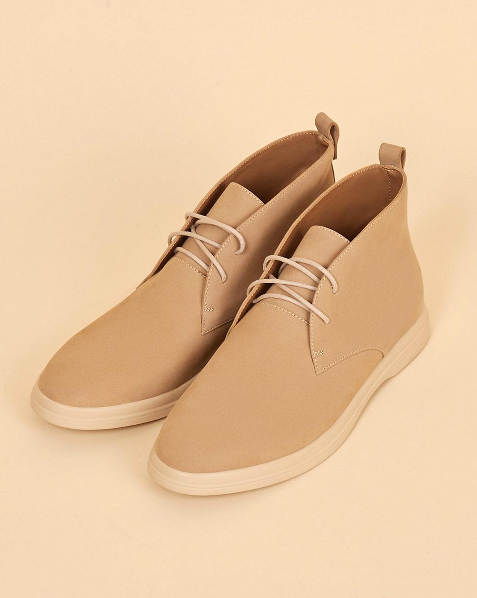 12Storeez Ботинки на шнурках (светло-песочный) 12storeez ботинки с мехом на шнурках светло бежевый