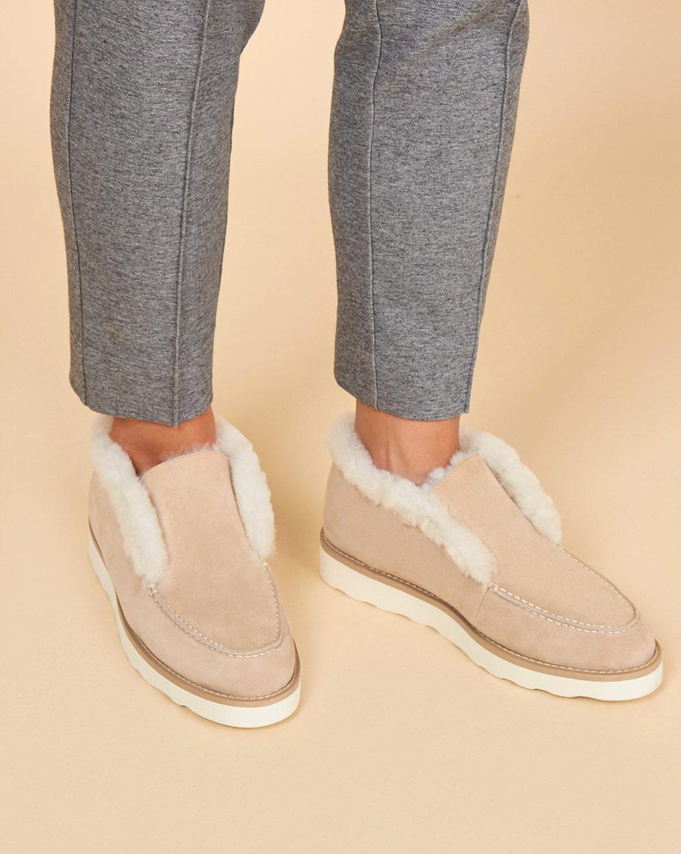 12Storeez Полуботинки на рифленой подошве (светло-песочные) 12storeez ботинки из замши на рифленой подошве рыже коричневые
