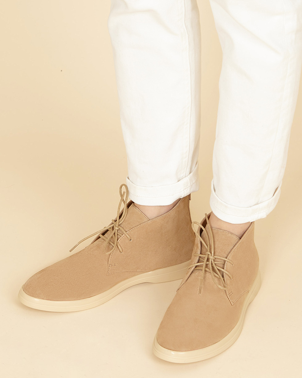 12Storeez Ботинки из замши на шнурках (светло-бежевый) SS19 12storeez ботинки с мехом на шнурках светло бежевый