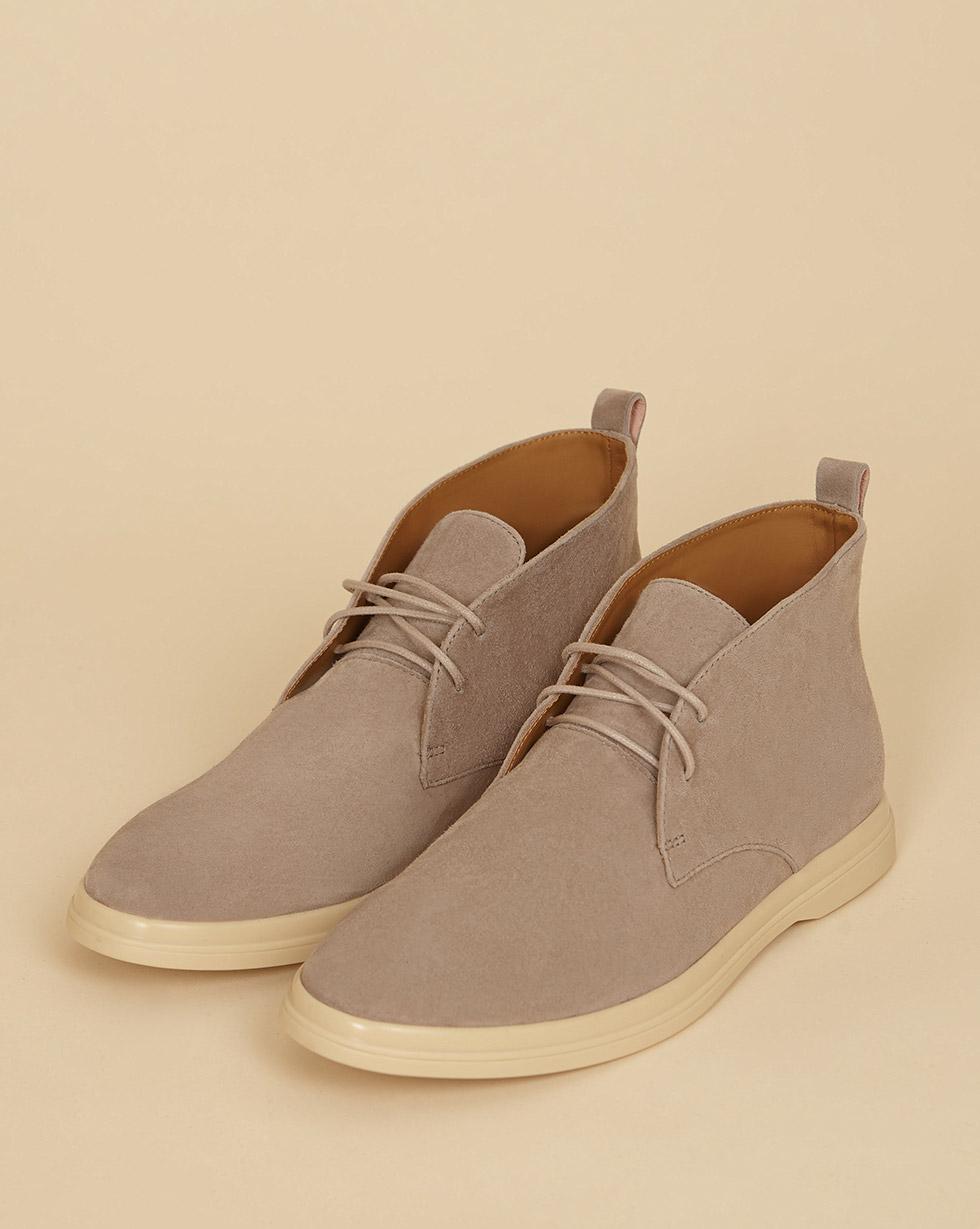 12Storeez Ботинки из замши на шнурках (серо-бежевый) SS19 12storeez ботинки из замши на шнурках светло бежевый ss19