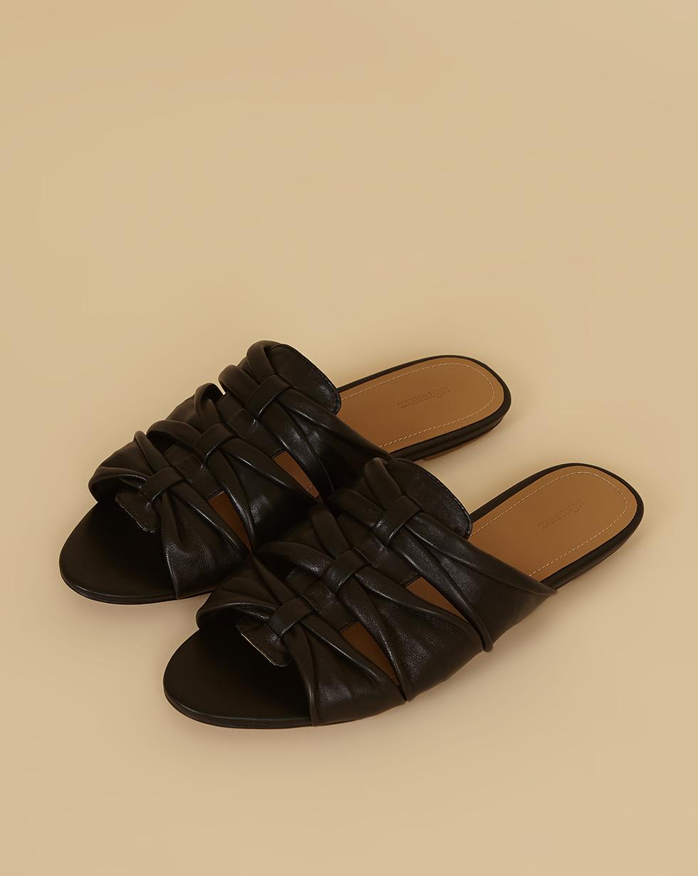 12Storeez Сандалии плетеные (черный) SS19