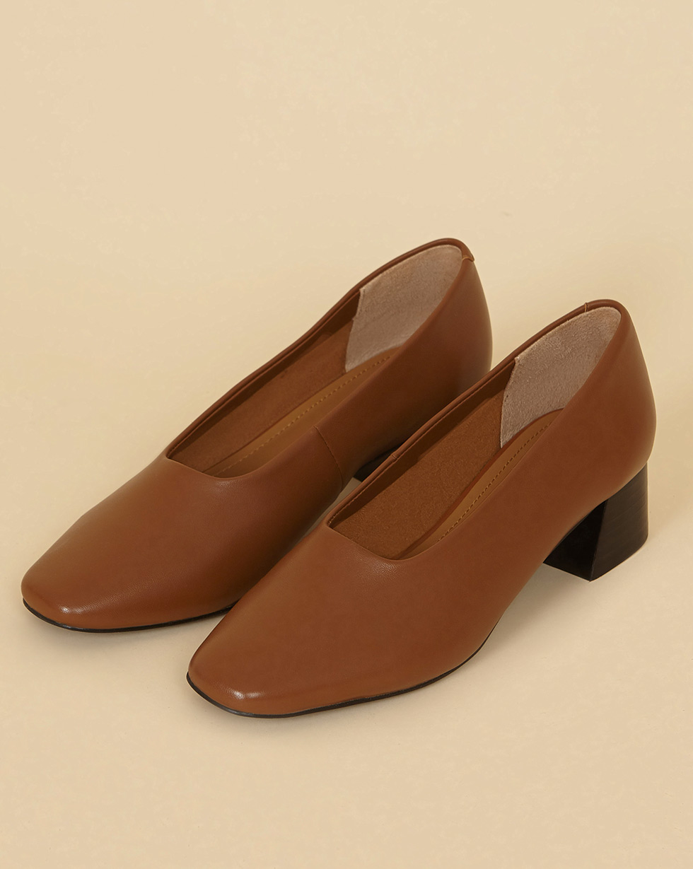 12Storeez Туфли мягкие на каблуке (коричневый) SS19
