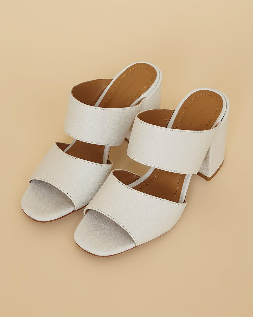 12Storeez Мюли на устойчивом каблуке (белый) SS19 мюли мужские обувь фото