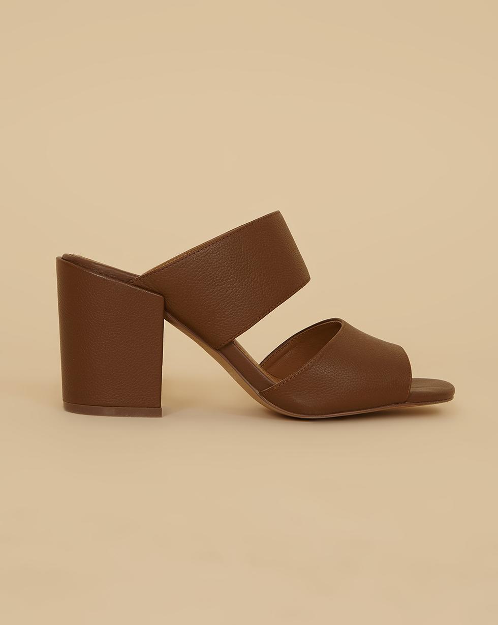 12Storeez Мюли на устойчивом каблуке (коричневый) SS19 мюли мужские обувь фото