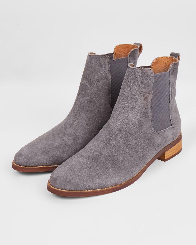 12Storeez Ботинки с резинкой из замши (темно-серые) ботинки из замши купить