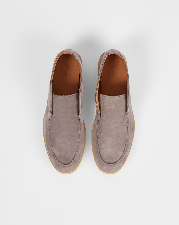 12Storeez Полуботинки из замши (серо-бежевые) 12storeez ботинки из замши с резинкой бежевые