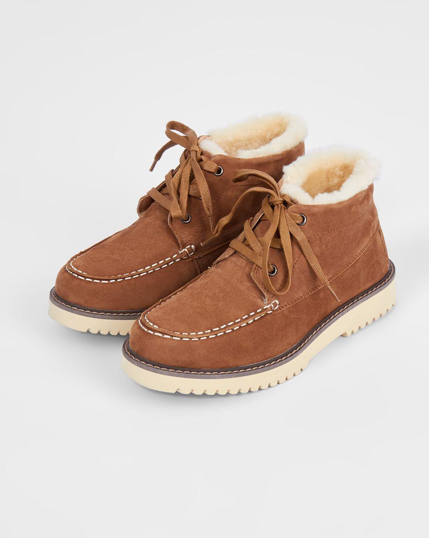 12Storeez Ботинки из замши на рифленой подошве (рыже-коричневые) 12storeez ботинки из замши с резинкой серо зеленые