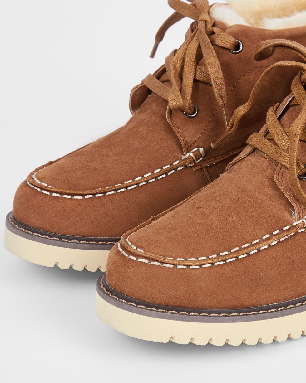 Ботинки из замши на рифленой подошве 39Обувь<br><br><br>Артикул: 818412118<br>Размер: 39<br>Цвет: Рыже-коричневый<br>Новинка: ДА<br>Наименование en: Lace-up track sole boots