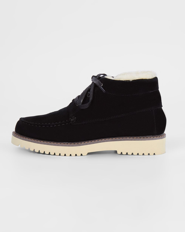 12Storeez Ботинки из замши на рифленой подошве (черные) 12storeez полуботинки на рифленой подошве со шнурками светло серые