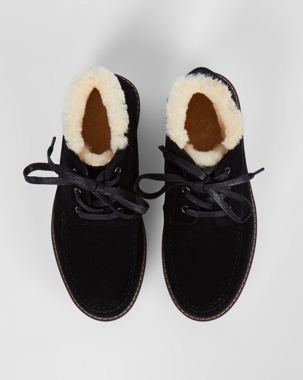 Ботинки из замши на рифленой подошве 36Обувь<br><br><br>Артикул: 818412119<br>Размер: 36<br>Цвет: Черный<br>Новинка: НЕТ<br>Наименование en: Lace-up track sole boots