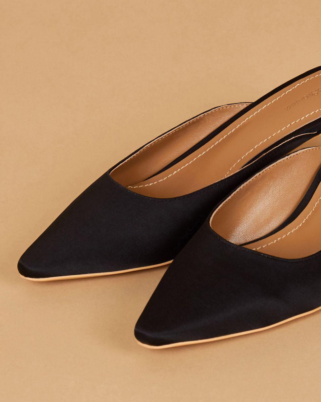 12Storeez Мюли на каблуке с открытой пяткой (черные) 12storeez мюли с открытым носом на низком каблуке оливковые