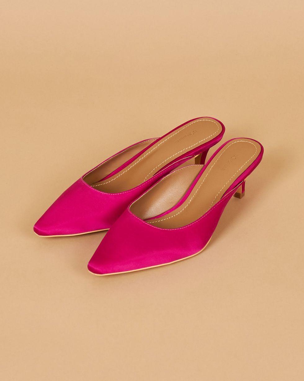 12Storeez Мюли на каблуке с открытой пяткой (розовые) 12storeez мюли с открытым носом на низком каблуке оливковые