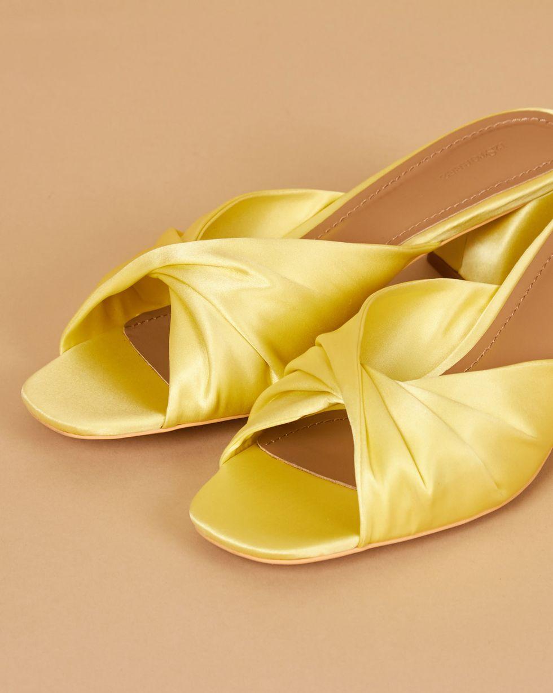 12Storeez Мюли с открытым носом на низком каблуке (желтые) цена