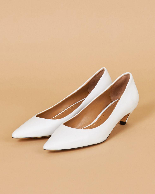 Туфли-лодочки 39Обувь<br><br><br>Артикул: 818412806<br>Размер: 39<br>Цвет: Белый<br>Новинка: ДА<br>Наименование en: Slanted heel pumps