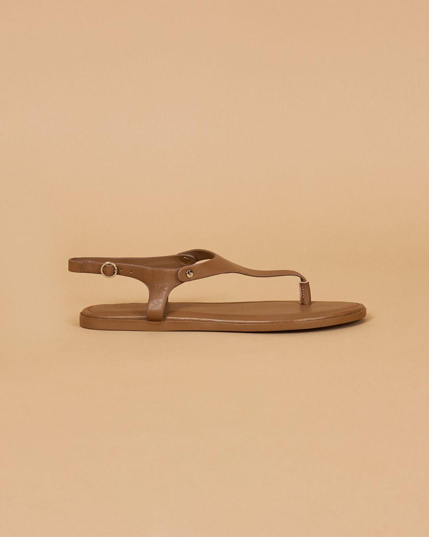 Сандалии на плоской подошве 37Обувь<br><br><br>Артикул: 818412809<br>Размер: 37<br>Цвет: Оливковый<br>Новинка: НЕТ<br>Наименование en: Ankle strap thong sandals