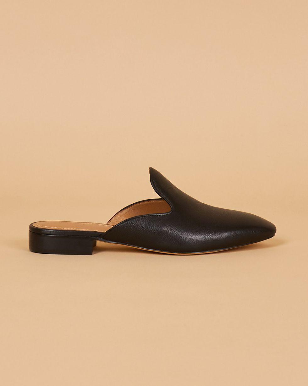 Мюли из кожи с закрытым носом 35Обувь<br><br><br>Артикул: 818412916<br>Размер: 35<br>Цвет: Черный<br>Новинка: НЕТ<br>Наименование en: Leather mule slippers